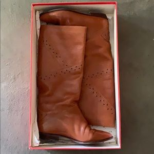 Women's Italian Brown Boots Size 6.5